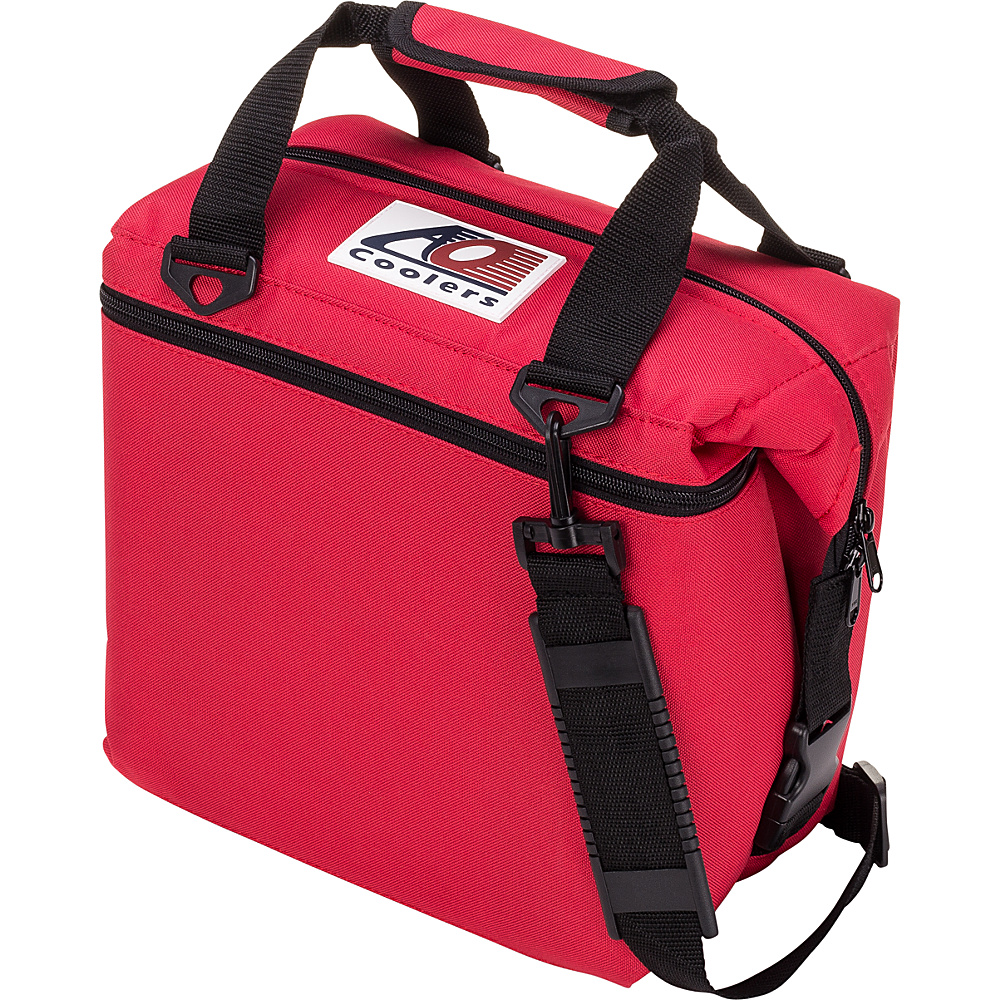 AO Coolers 12 Pack Canvas Soft Cooler Red AO Coolers Outdoor Coolers
