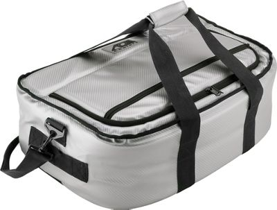 AO Coolers 38 Pack Carbon Stow-N-Go Soft Cooler Silver - AO Coolers Outdoor Coolers