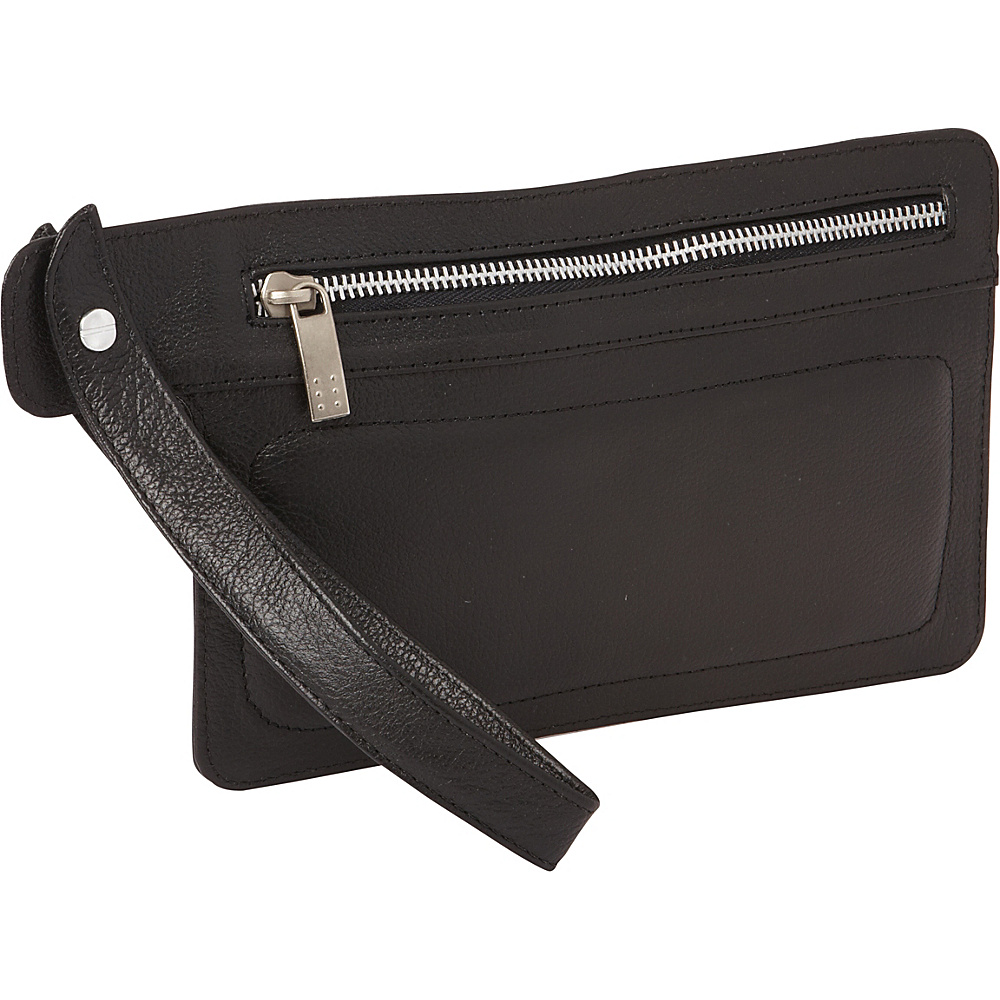 Piel Skinny Leather Organizer Wristlet Black - Piel Travel Wallets - Travel Accessories, Travel Wallets