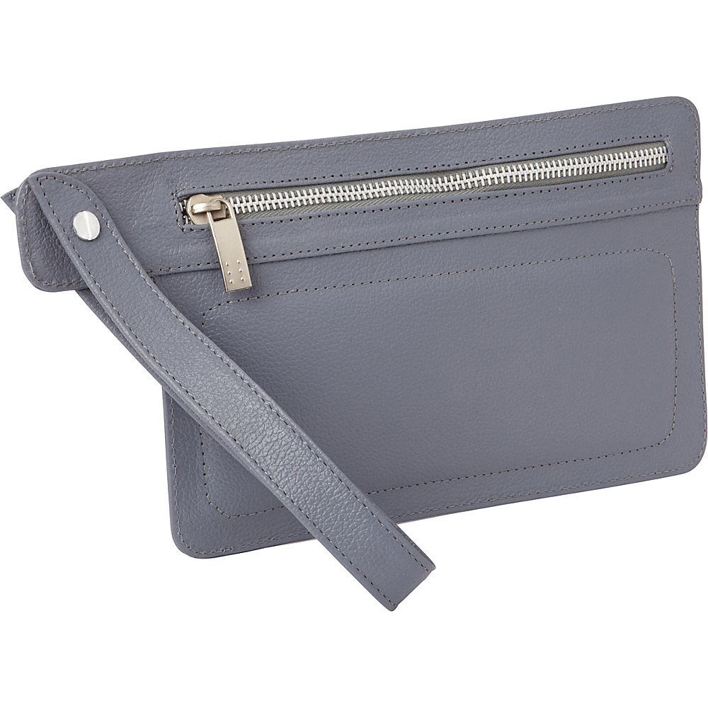 Piel Skinny Leather Organizer Wristlet Gray - Piel Travel Wallets - Travel Accessories, Travel Wallets