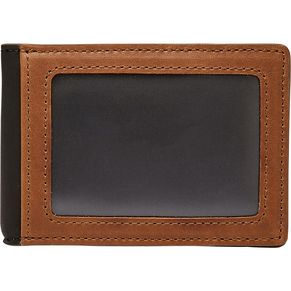 Fossil Tate RFID Money Clip Bifold Cognac - Fossil Mens Wallets - Work Bags & Briefcases, Men's Wallets