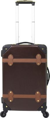 Chariot Titanic 20'' Hardside Spinner Carry On Brown - Chariot Hardside Carry-On