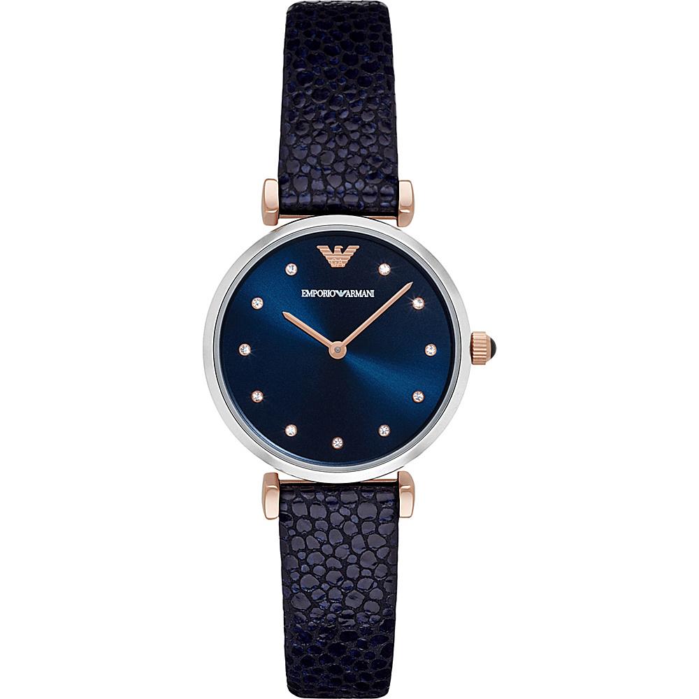 Emporio Armani Retro Watch Blue/RoseGold - Emporio Armani Watches