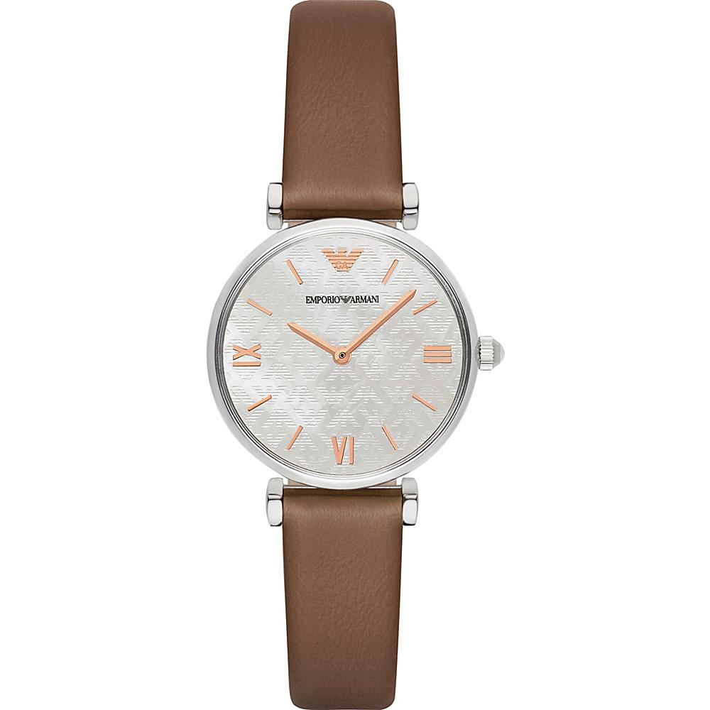 Emporio Armani Retro Watch Brown/Silver - Emporio Armani Watches