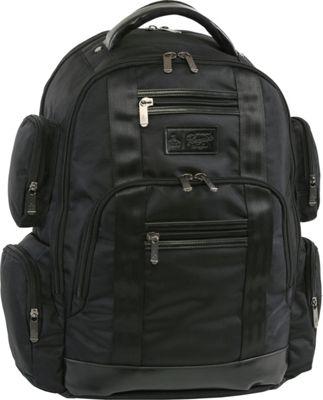 Original Penguin Luggage Peterson 9 Pocket Laptop/Tablet Backpack Black - Original Penguin Luggage Business & Laptop Backpacks