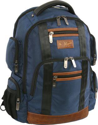 Original Penguin Luggage Peterson 9 Pocket Laptop/Tablet Backpack Navy - Original Penguin Luggage Business & Laptop Backpacks