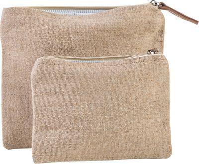 Shorebags Modern Jute Pouch Set Natural Jute - Shorebags Travel Organizers