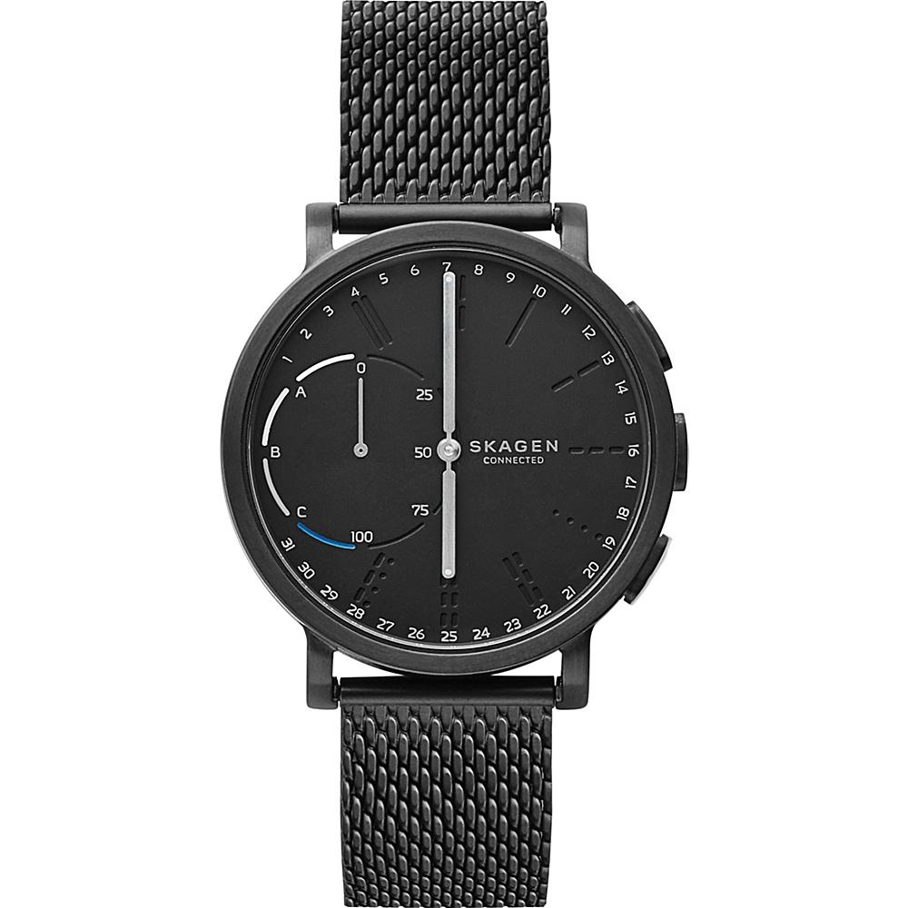 Skagen Hagen Connected Steel-Mesh Hybrid Smartwatch Black - Skagen Wearable Technology