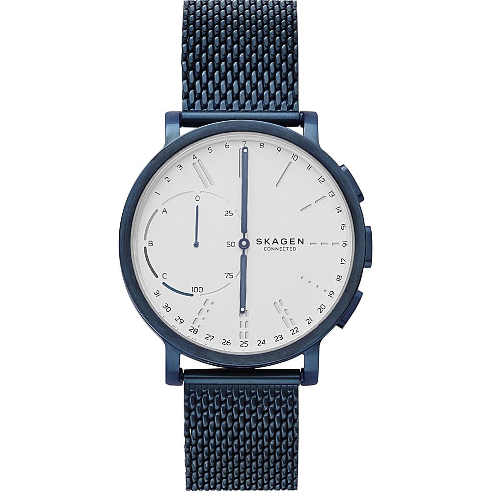 Skagen Hagen Connected Steel-Mesh Hybrid Smartwatch Blue - Skagen Wearable Technology