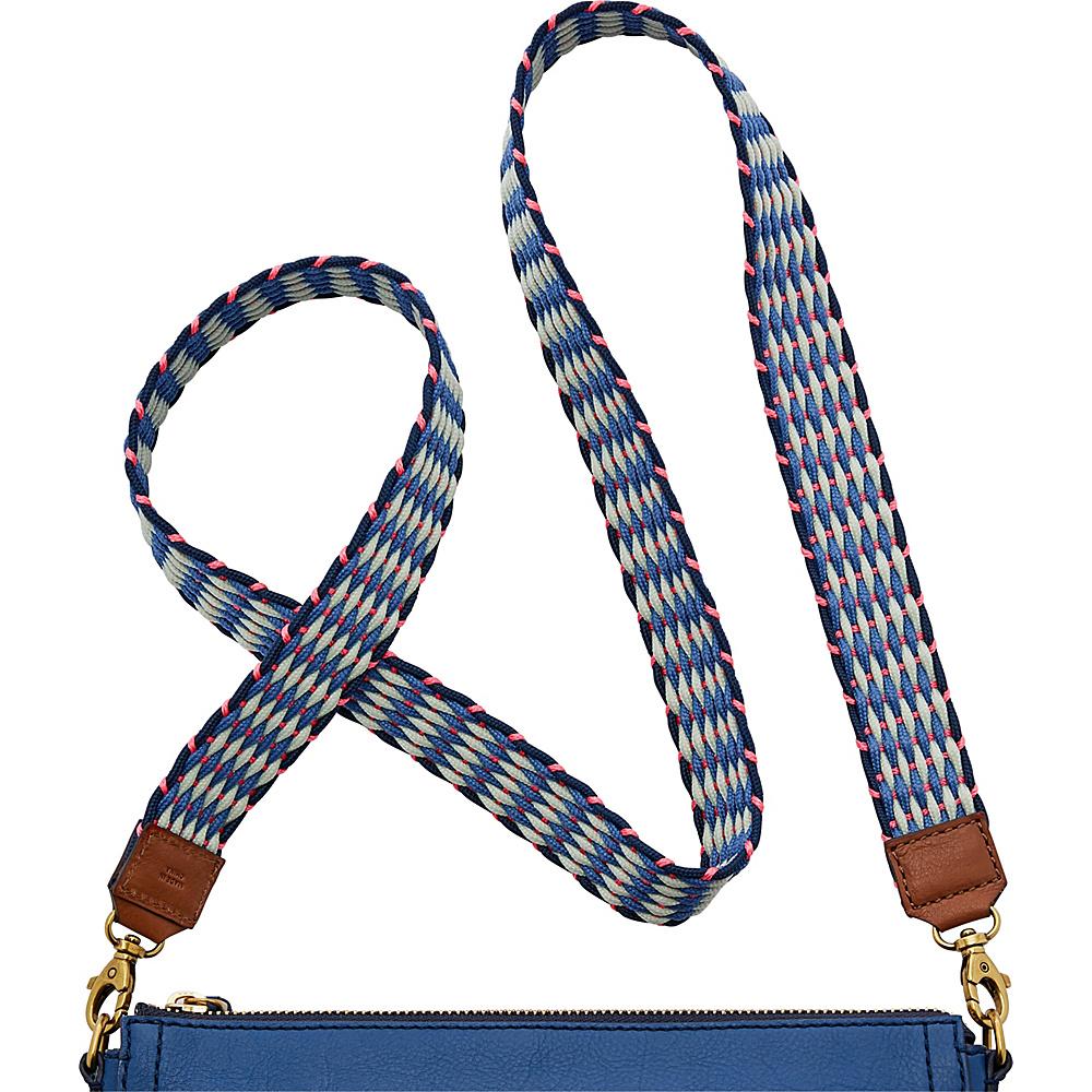 Fossil Crossbody Strap Blue Multi - Fossil Leather Handbags - Handbags, Leather Handbags