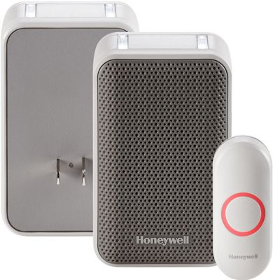 Honeywell Plug-in Wireless Doorbell with Strobe Light & Push Button White - Honeywell Smart Home Automation