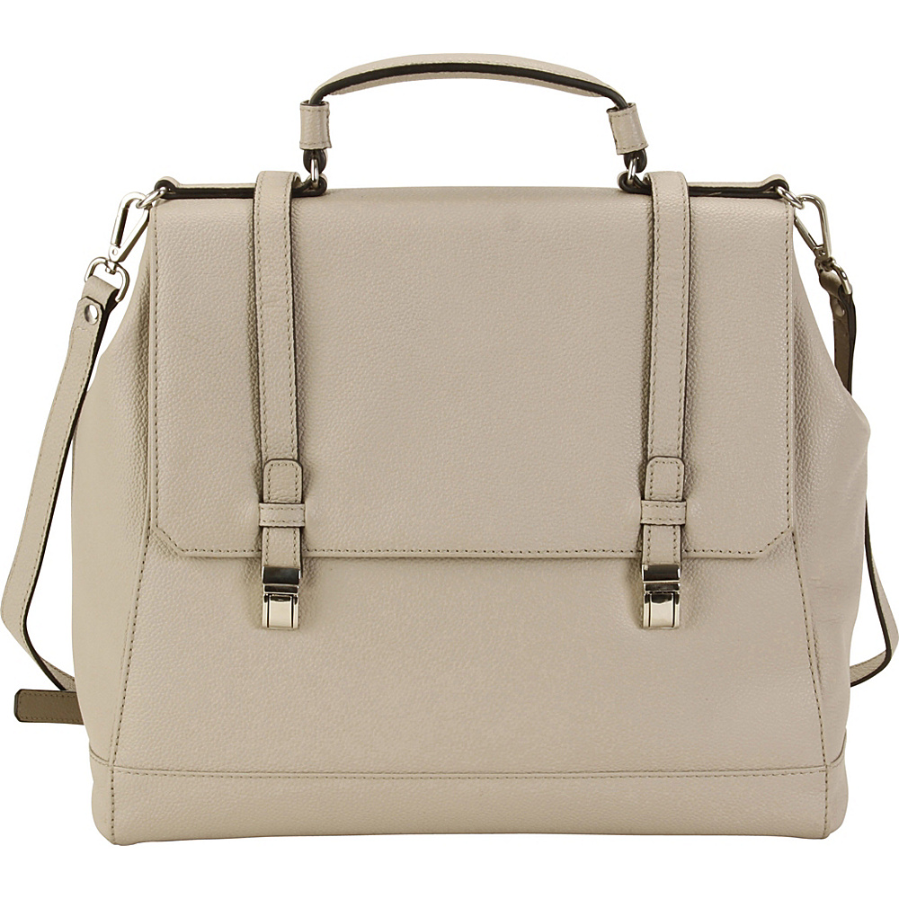 Hadaki Lady Urban Small Messenger Pearl Gray - Hadaki Leather Handbags - Handbags, Leather Handbags