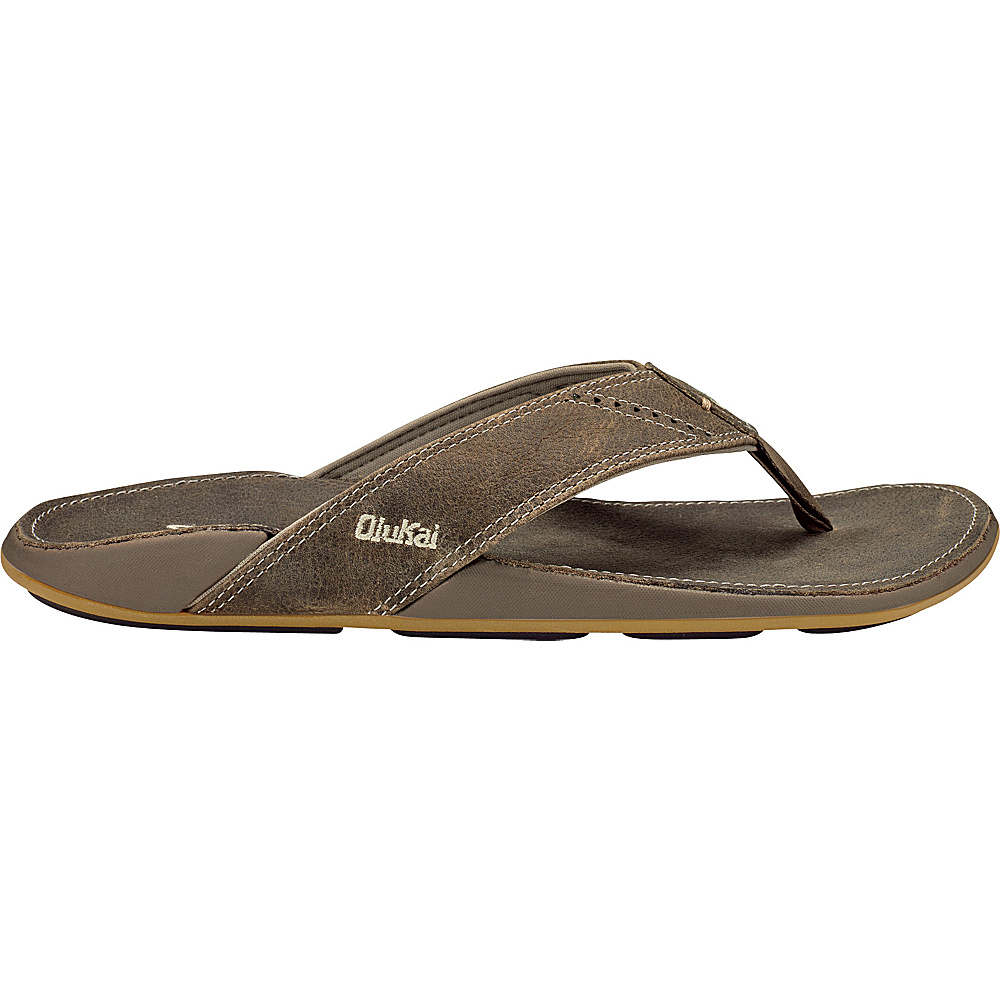 OluKai Mens Nui Sandal 8 - Clay/Clay - OluKai Mens Footwear - Apparel & Footwear, Men's Footwear