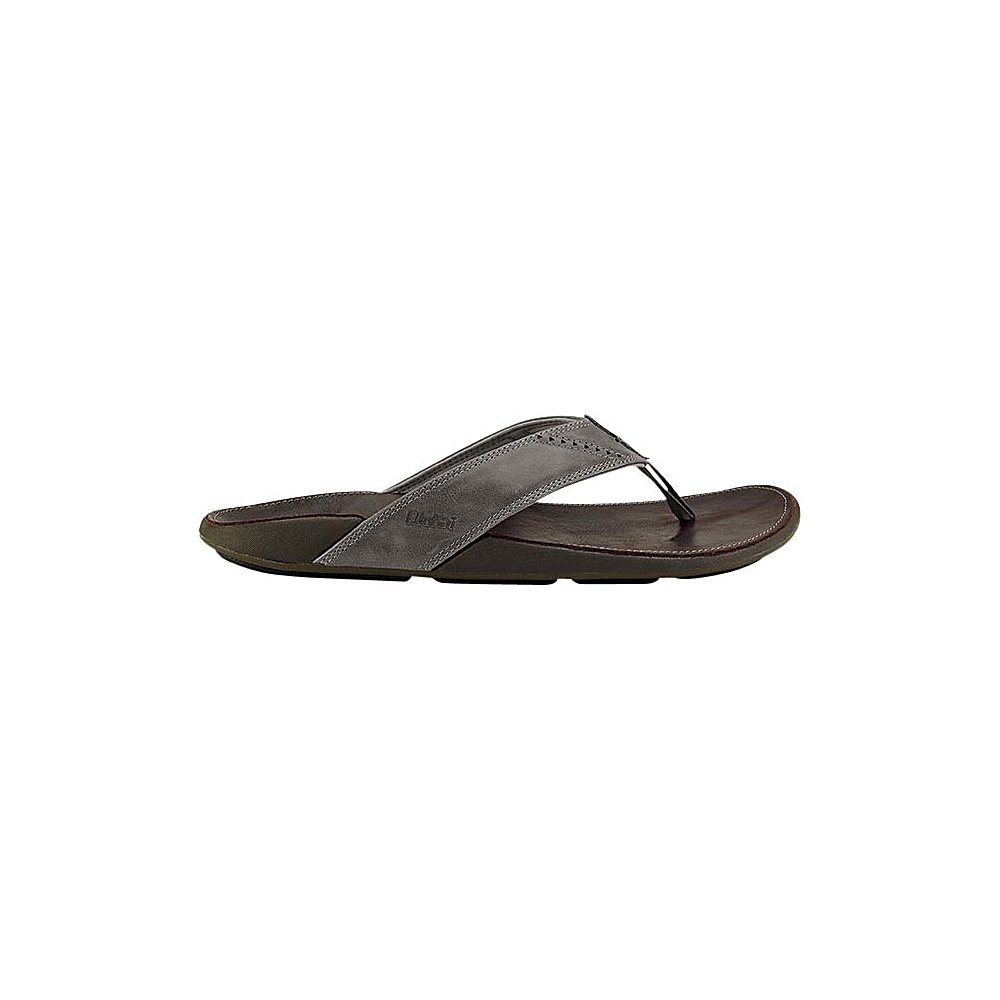 OluKai Mens Nui Sandal 12 - Charcoal/Dark Java - OluKai Mens Footwear - Apparel & Footwear, Men's Footwear