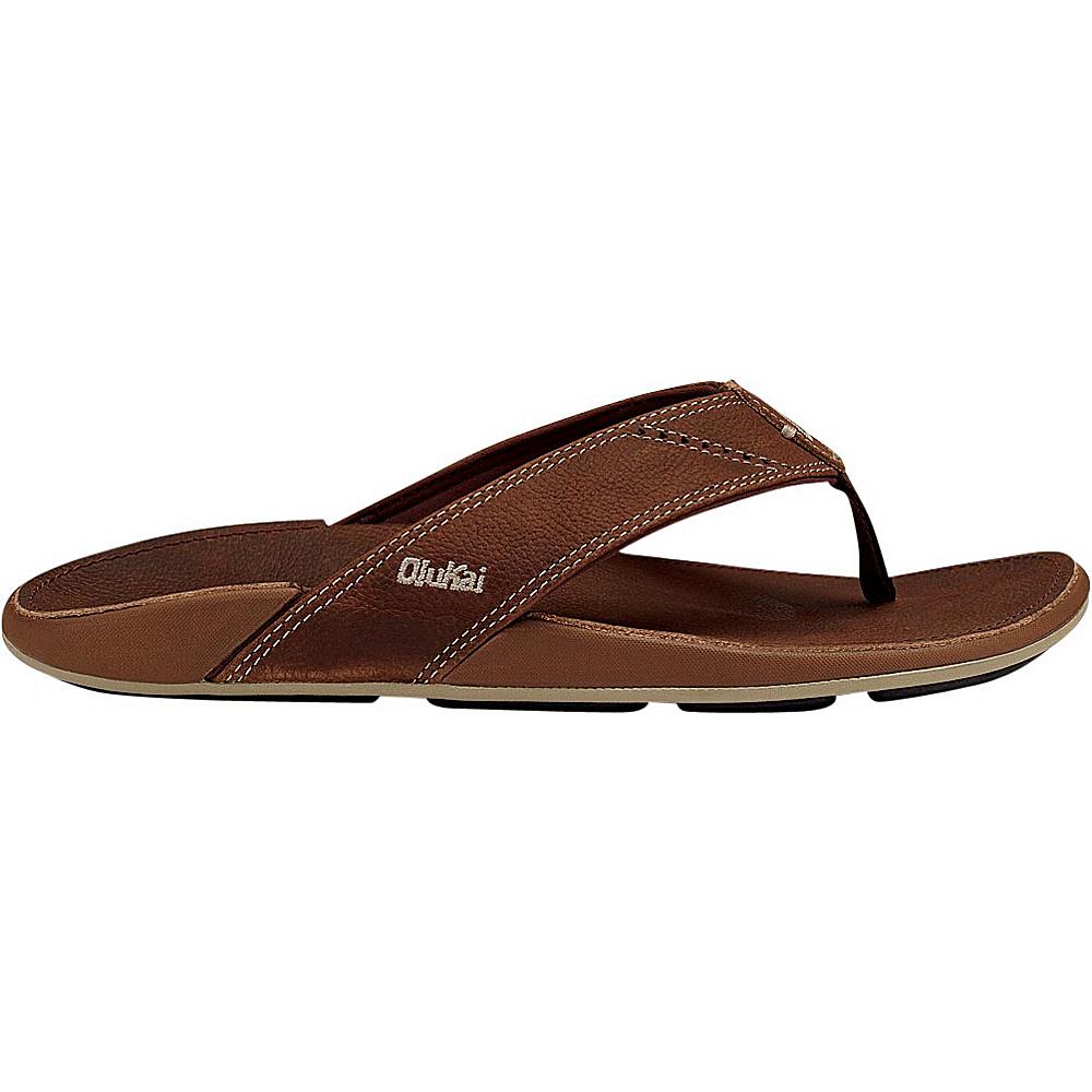 OluKai Mens Nui Sandal 8 - Rum/Rum - OluKai Mens Footwear - Apparel & Footwear, Men's Footwear