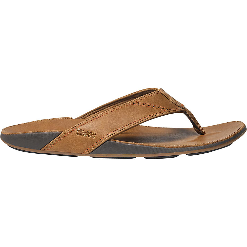 OluKai Mens Nui Sandal 15 - Tan/Tan - OluKai Mens Footwear - Apparel & Footwear, Men's Footwear
