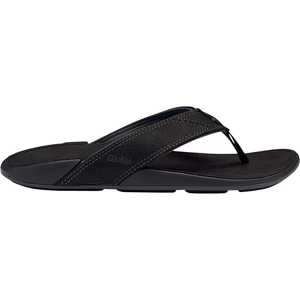 OluKai Mens Nui Sandal 7 - Onyx/Onyx - OluKai Mens Footwear - Apparel & Footwear, Men's Footwear