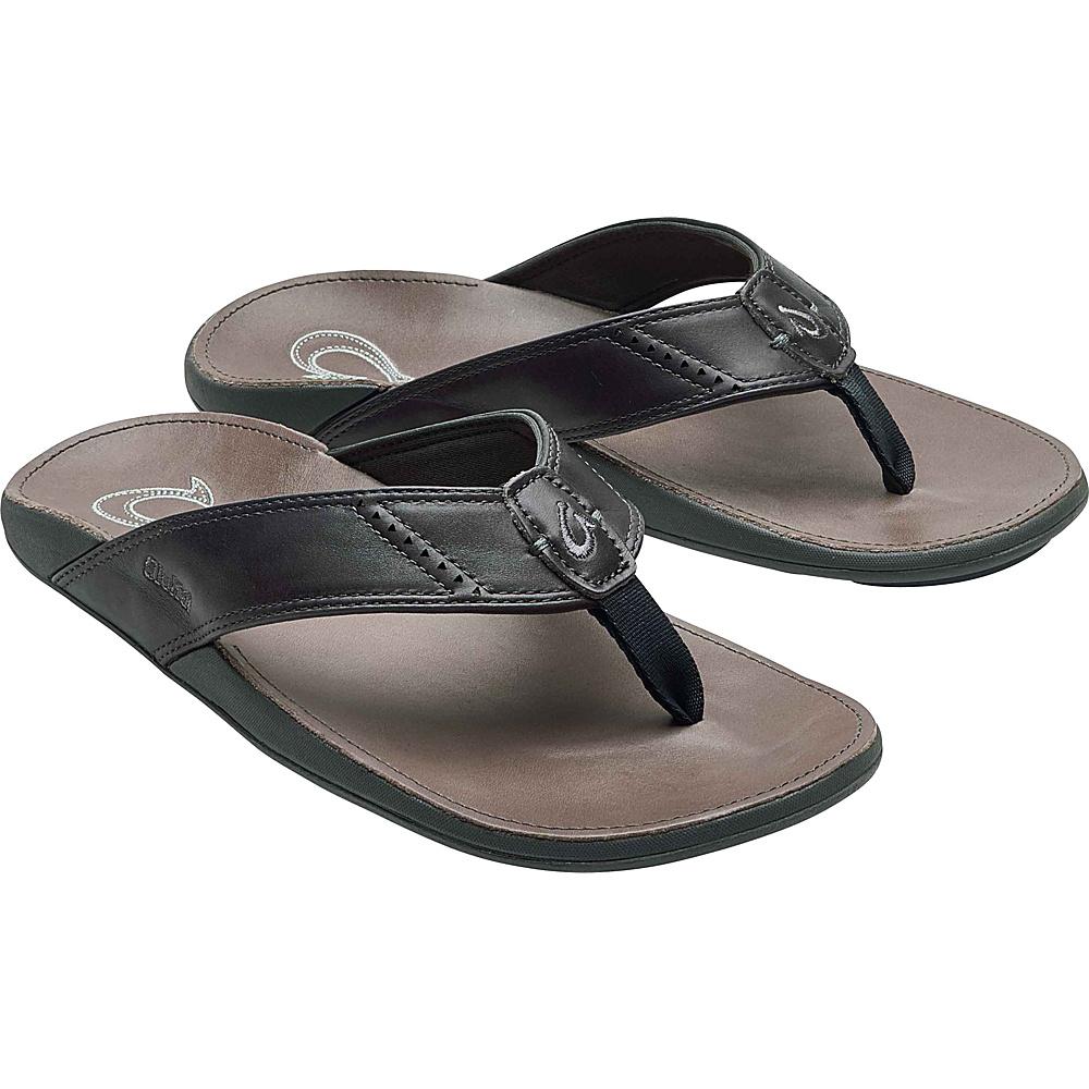 OluKai Mens Nui Sandal 7 - Dark Shadow/Charcoal - OluKai Mens Footwear - Apparel & Footwear, Men's Footwear
