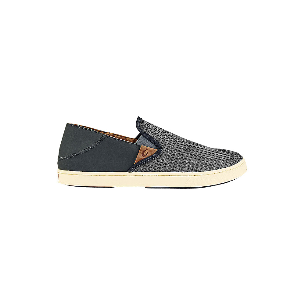 OluKai Womens Pehuea Slip-On 9 - Charcoal/Dark Shadow - OluKai Womens Footwear - Apparel & Footwear, Women's Footwear
