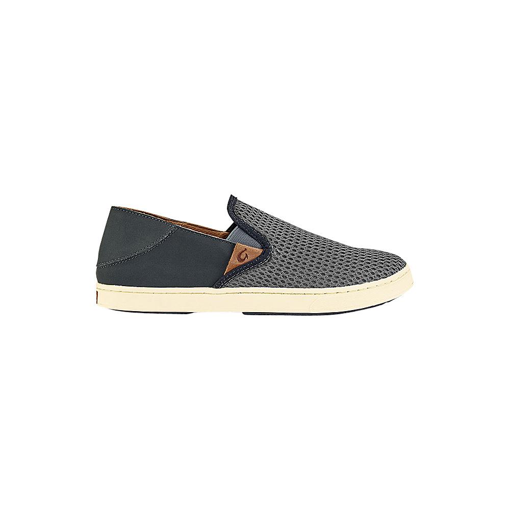 OluKai Womens Pehuea Slip-On 6.5 - Charcoal/Dark Shadow - OluKai Womens Footwear - Apparel & Footwear, Women's Footwear