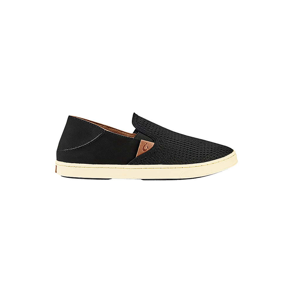 OluKai Womens Pehuea Slip-On 7 - Black/Black - OluKai Womens Footwear - Apparel & Footwear, Women's Footwear