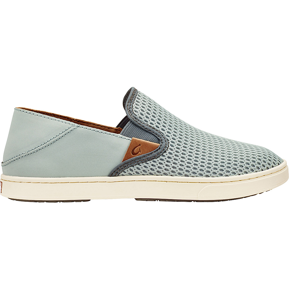 OluKai Womens Pehuea Slip-On 6.5 - Pale Grey/Charcoal - OluKai Womens Footwear - Apparel & Footwear, Women's Footwear
