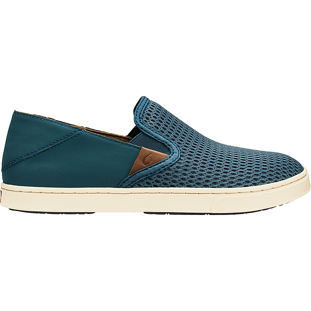 OluKai Womens Pehuea Slip-On 6.5 - Stormy Blue/Stormy Blue - OluKai Womens Footwear - Apparel & Footwear, Women's Footwear