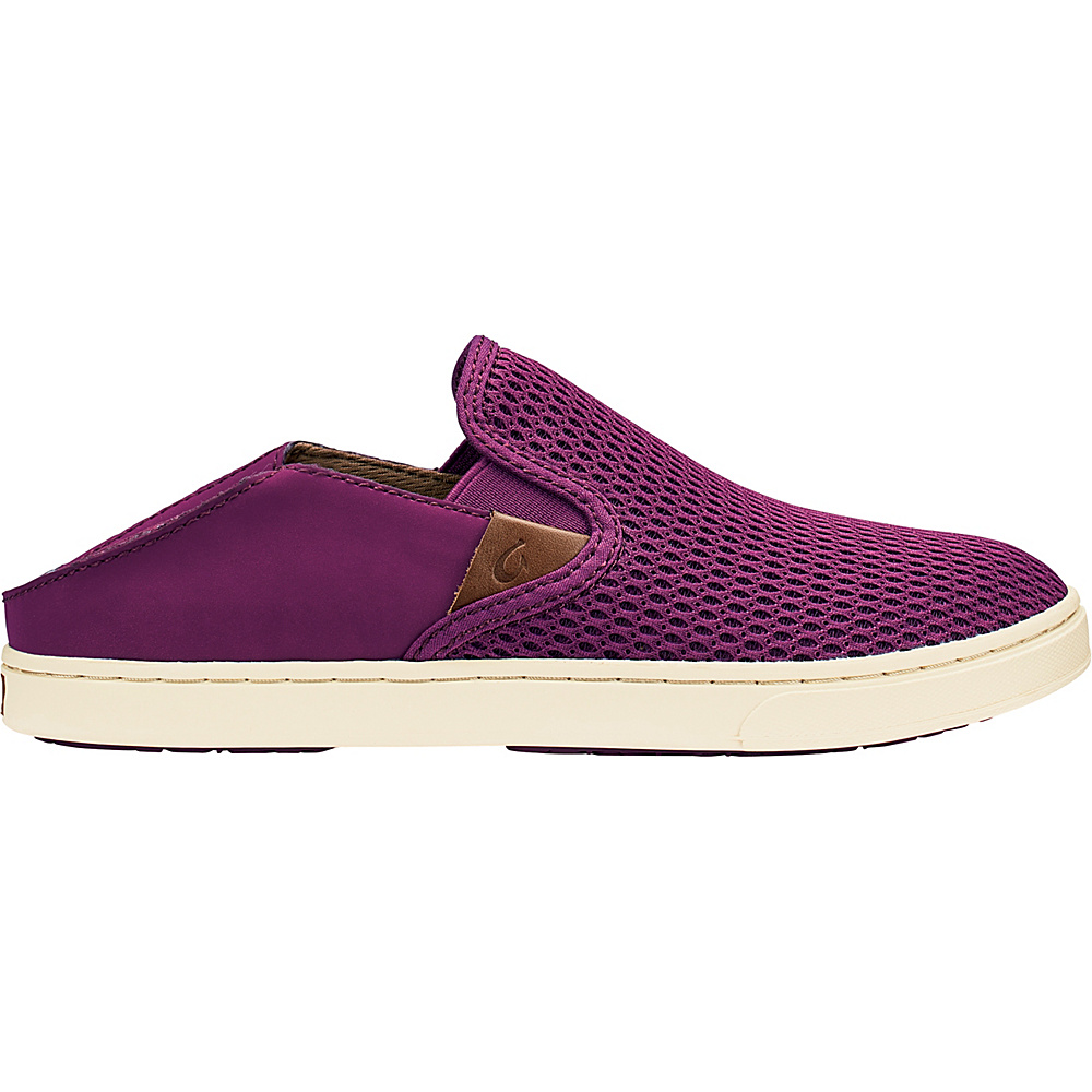 OluKai Womens Pehuea Slip-On 8.5 - Magenta/Magenta - OluKai Womens Footwear - Apparel & Footwear, Women's Footwear