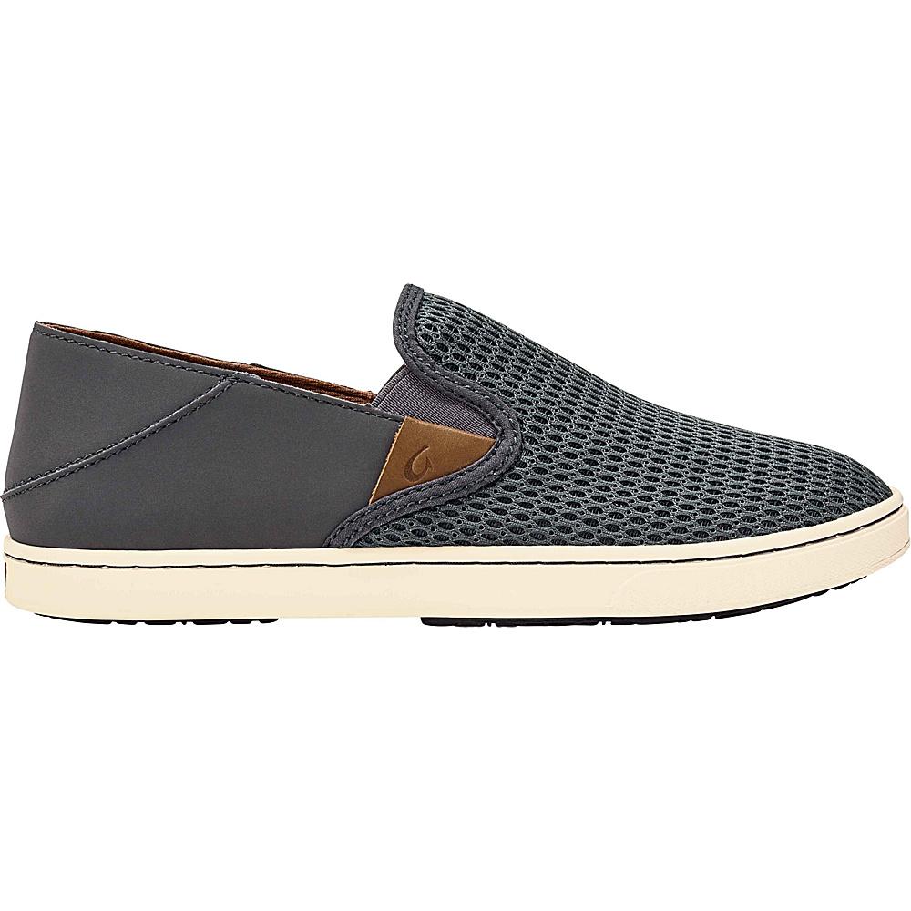 OluKai Womens Pehuea Slip-On 6 - Pavement/Pavement - OluKai Womens Footwear - Apparel & Footwear, Women's Footwear