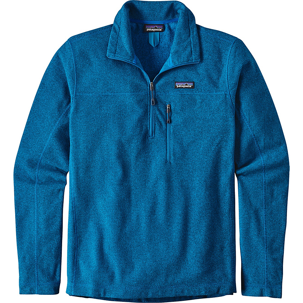 Patagonia Mens Oakes 1/4-Zip Pullover M - Andes Blue - Patagonia Mens Apparel - Apparel & Footwear, Men's Apparel