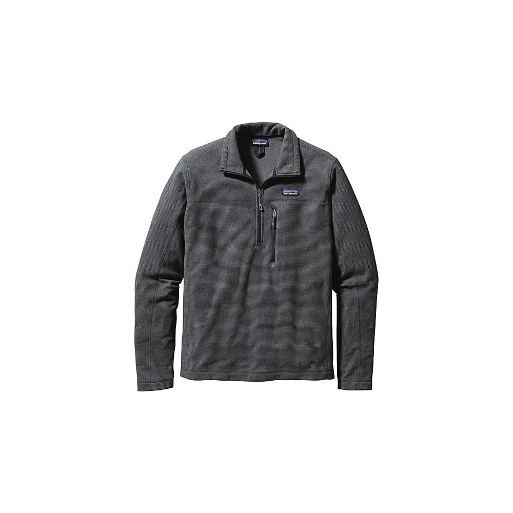 Patagonia Mens Oakes 1/4-Zip Pullover XS - Forge Grey - Patagonia Mens Apparel - Apparel & Footwear, Men's Apparel
