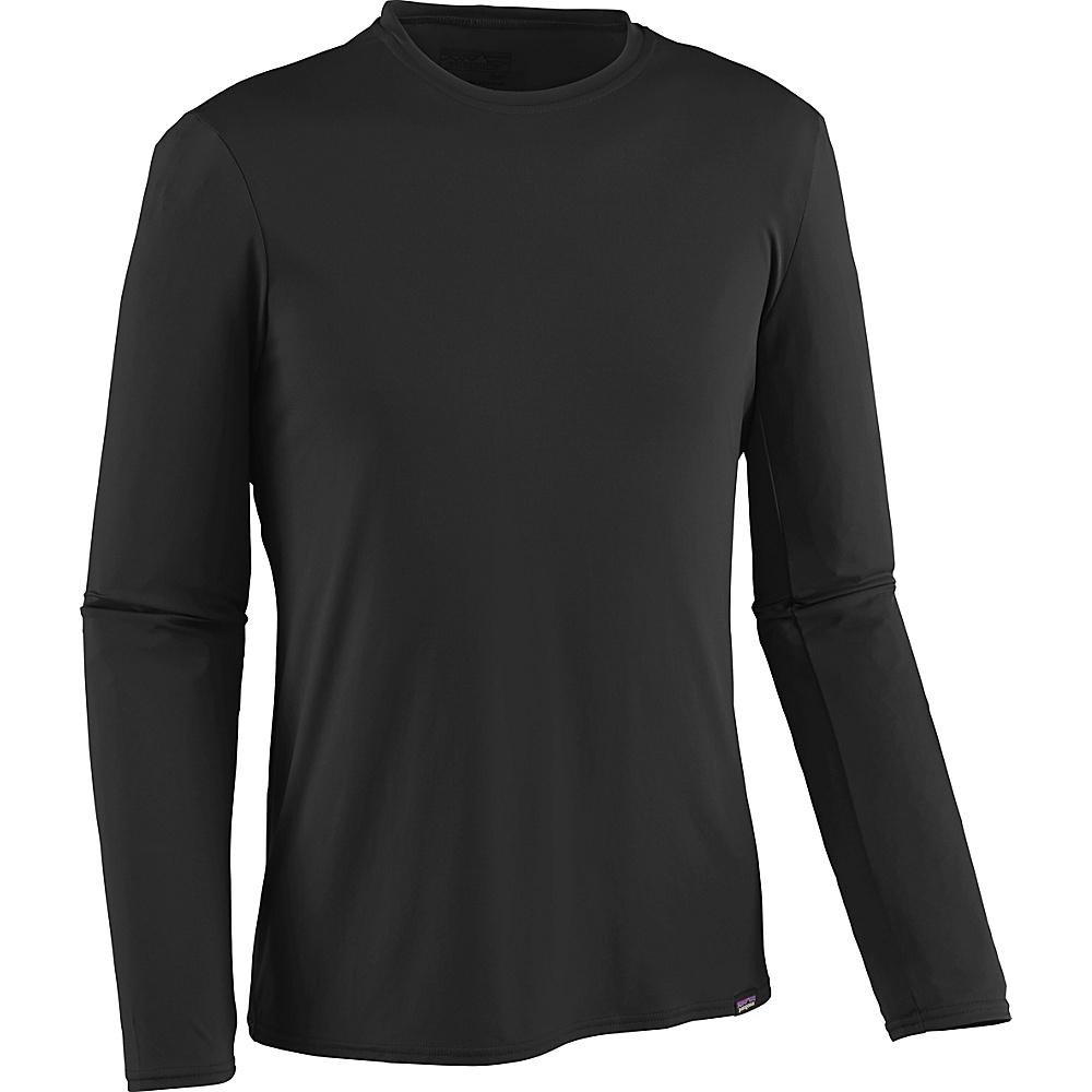 Patagonia Mens Long-Sleeved Capilene Daily T-Shirt S - Black - Patagonia Mens Apparel - Apparel & Footwear, Men's Apparel