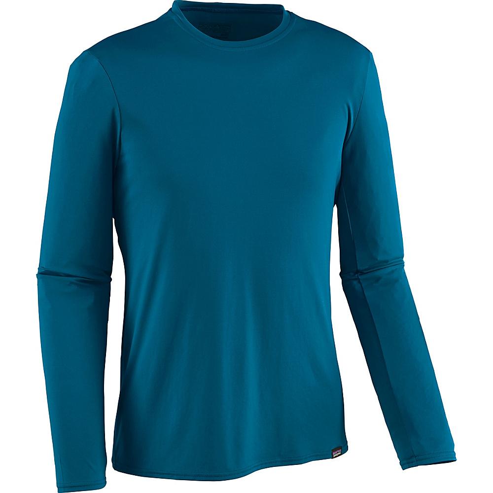 Patagonia Mens Long-Sleeved Capilene Daily T-Shirt XS - Big Sur Blue - Patagonia Mens Apparel - Apparel & Footwear, Men's Apparel
