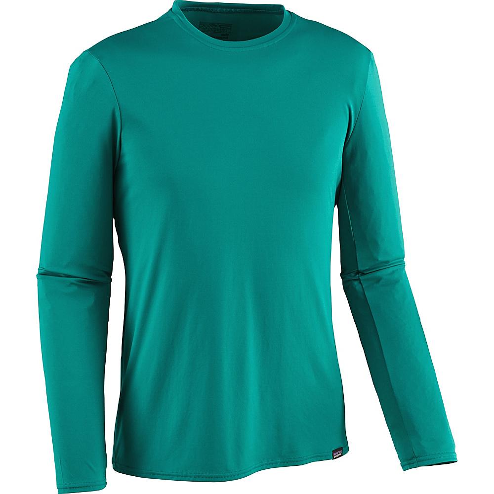 Patagonia Mens Long-Sleeved Capilene Daily T-Shirt S - True Teal - Patagonia Mens Apparel - Apparel & Footwear, Men's Apparel