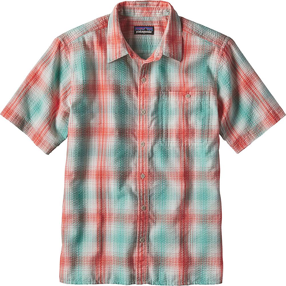Patagonia Mens Puckerware Shirt XS - Costa: Galah Green - Patagonia Mens Apparel - Apparel & Footwear, Men's Apparel