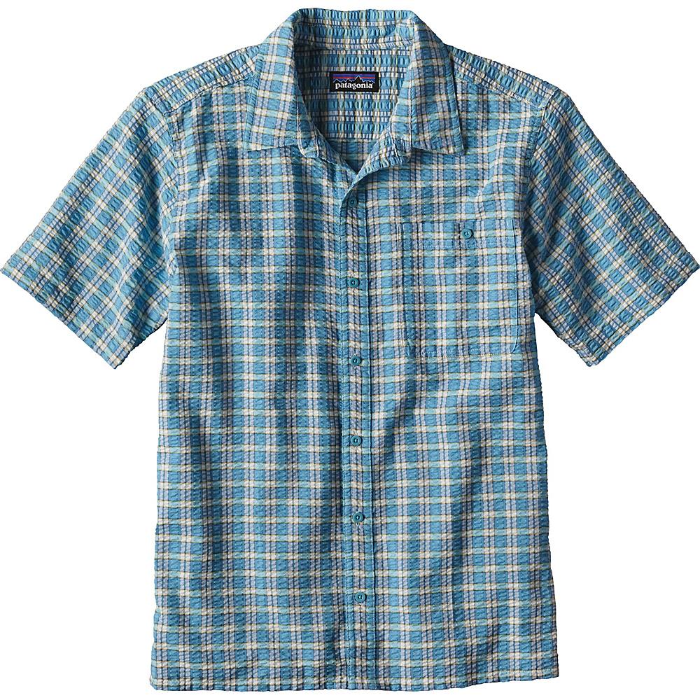 Patagonia Mens Puckerware Shirt XS - Whitewater Small: Cuban Blue - Patagonia Mens Apparel - Apparel & Footwear, Men's Apparel