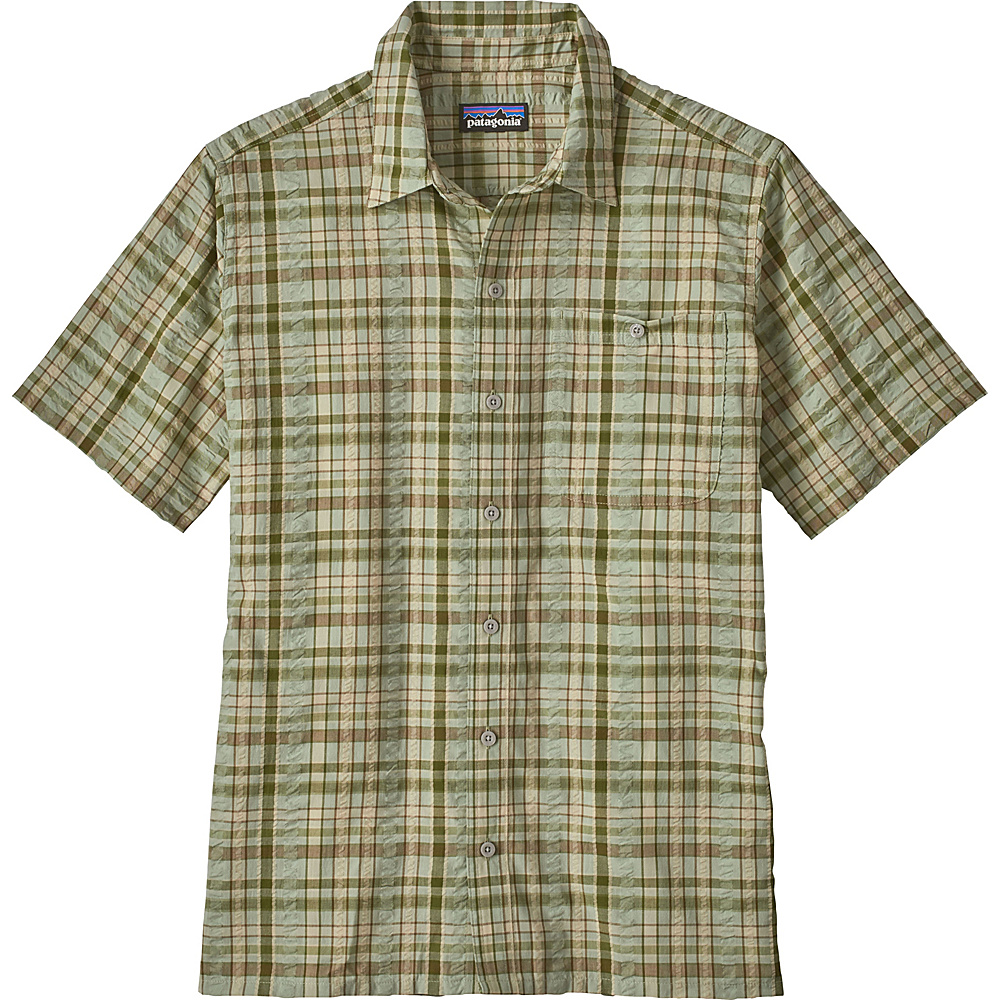 Patagonia Mens Puckerware Shirt XS - Splitter: Desert Sage - Patagonia Mens Apparel - Apparel & Footwear, Men's Apparel