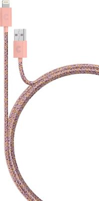 Candywirez 3 Ft Marbled Woven Braided Lighting Cables Pink/Orange - Candywirez Electronic Accessories