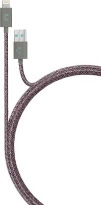 Candywirez 3 Ft Marbled Woven Braided Lighting Cables Red/Grey - Candywirez Electronic Accessories