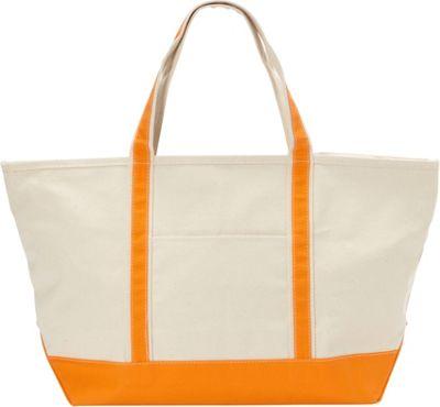 Rhombus Canvas Boat Tote Large Orange - Rhombus Canvas Fabric Handbags