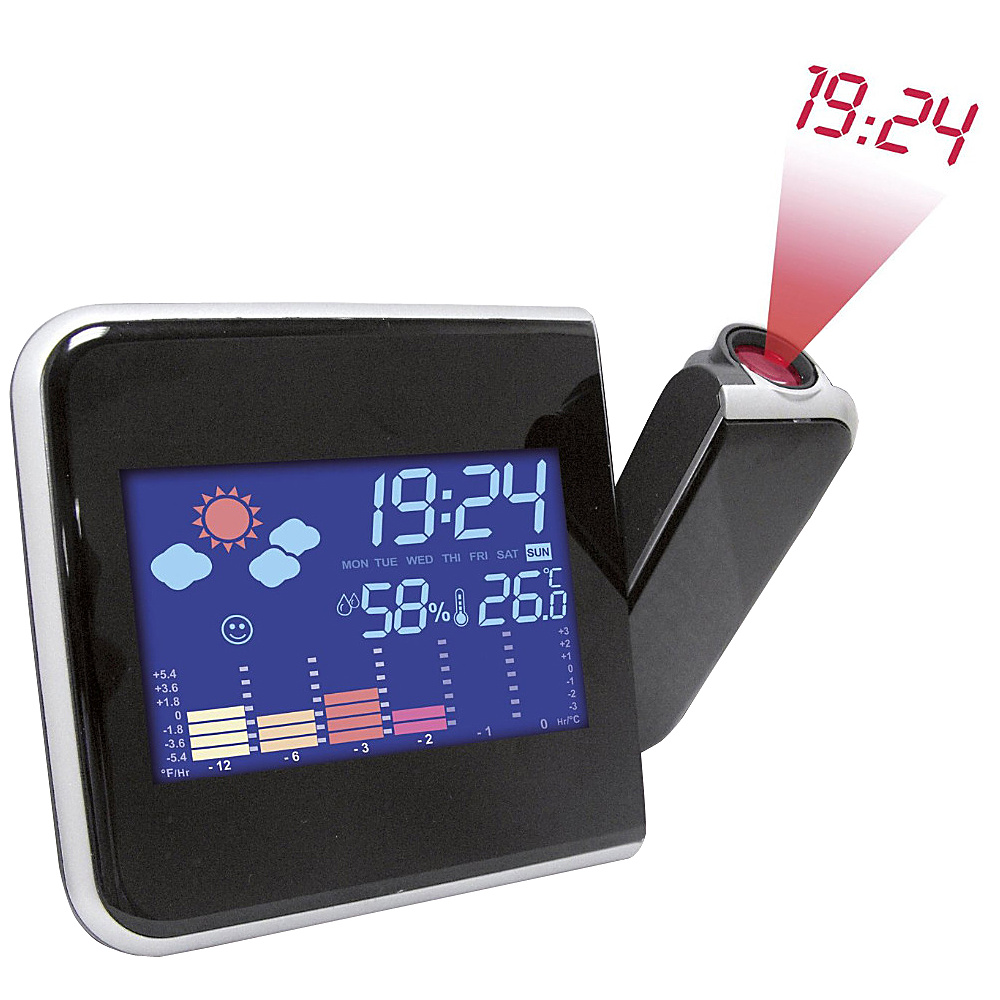 Koolulu Projection Digital Weather LED Alarm Clock Black Koolulu Electronic Accessories