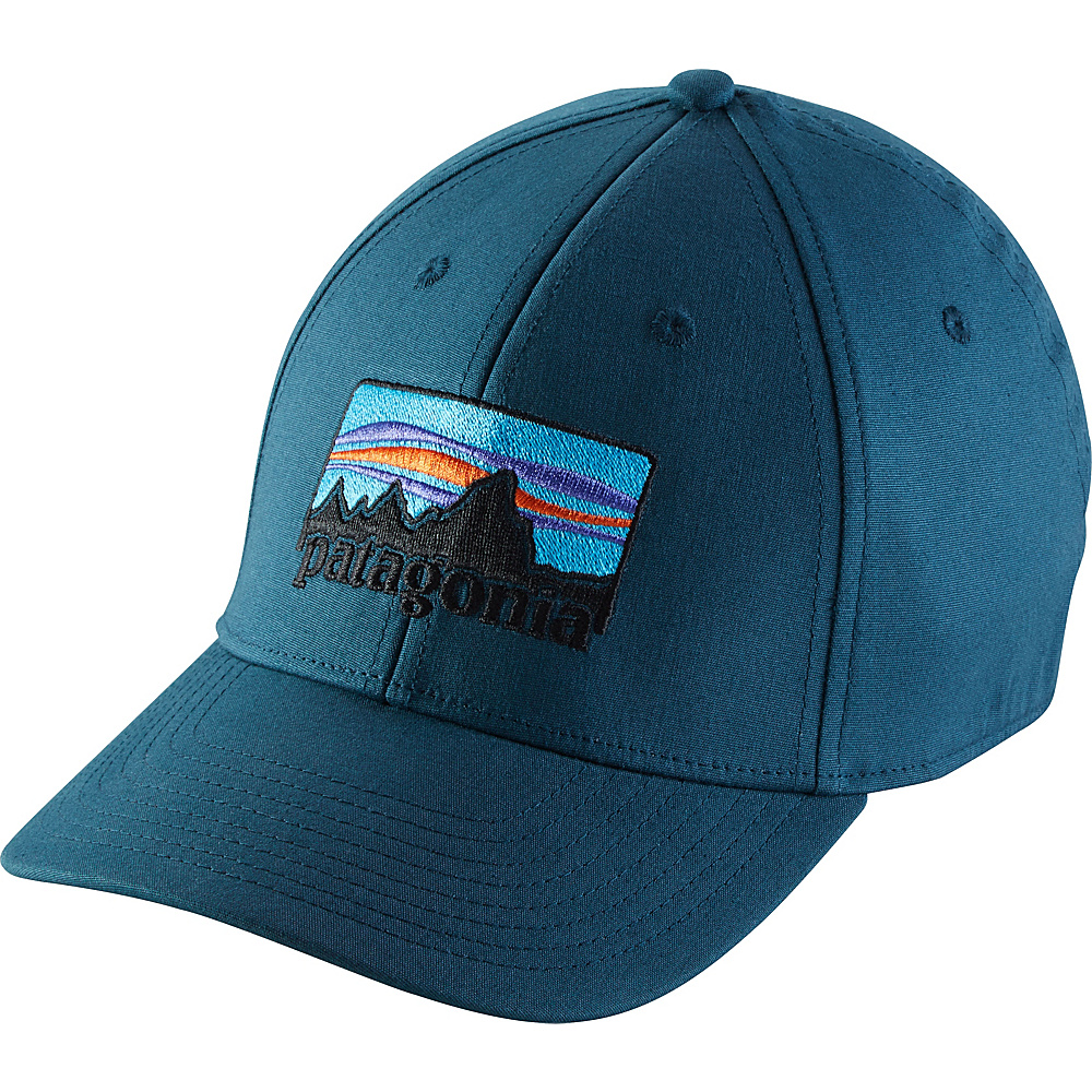 Patagonia 73 Logo Stretch Fit Hat L/XL - Bay Blue - Patagonia Hats/Gloves/Scarves - Fashion Accessories, Hats/Gloves/Scarves