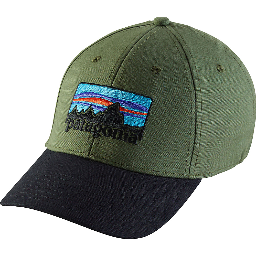 Patagonia 73 Logo Stretch Fit Hat L/XL - Buffalo Green - Patagonia Hats/Gloves/Scarves - Fashion Accessories, Hats/Gloves/Scarves