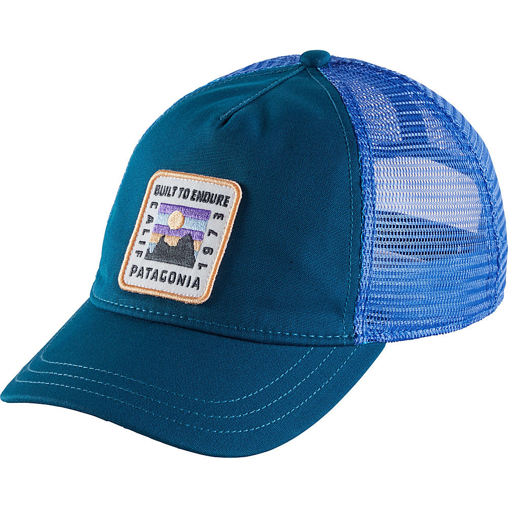 Patagonia Ws Ridge Rise Patch Layback Trucker Hat One Size - Big Sur Blue - Patagonia Hats/Gloves/Scarves - Fashion Accessories, Hats/Gloves/Scarves