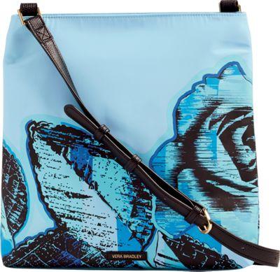 Vera Bradley Preppy Poly Molly Crossbody-Retired Prints Blue Havana Rose - Vera Bradley Fabric Handbags
