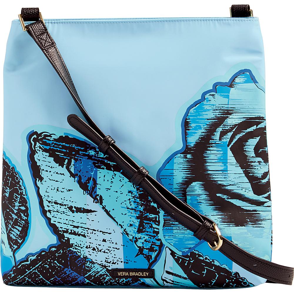 Vera Bradley Preppy Poly Molly Crossbody-Retired Prints Blue Havana Rose - Vera Bradley Fabric Handbags - Handbags, Fabric Handbags