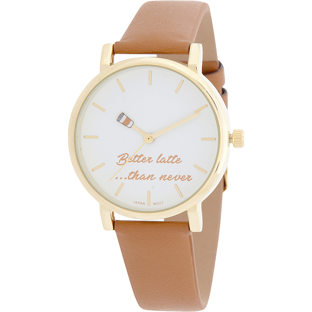 Samoe Womens Fun Quote Time Watch Luggage Samoe Watches