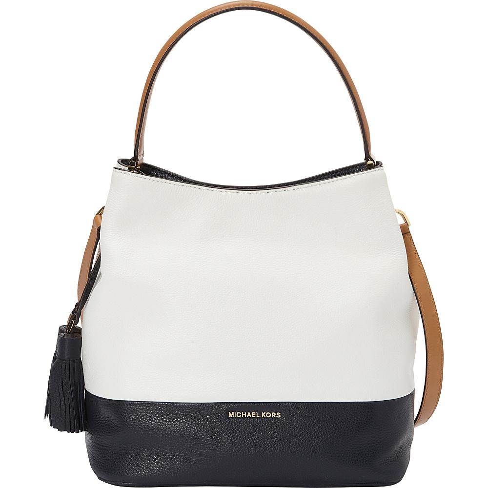 MICHAEL Michael Kors Kip Large Bucket Bag- Colorblock Optic White/Admiral - MICHAEL Michael Kors Designer Handbags