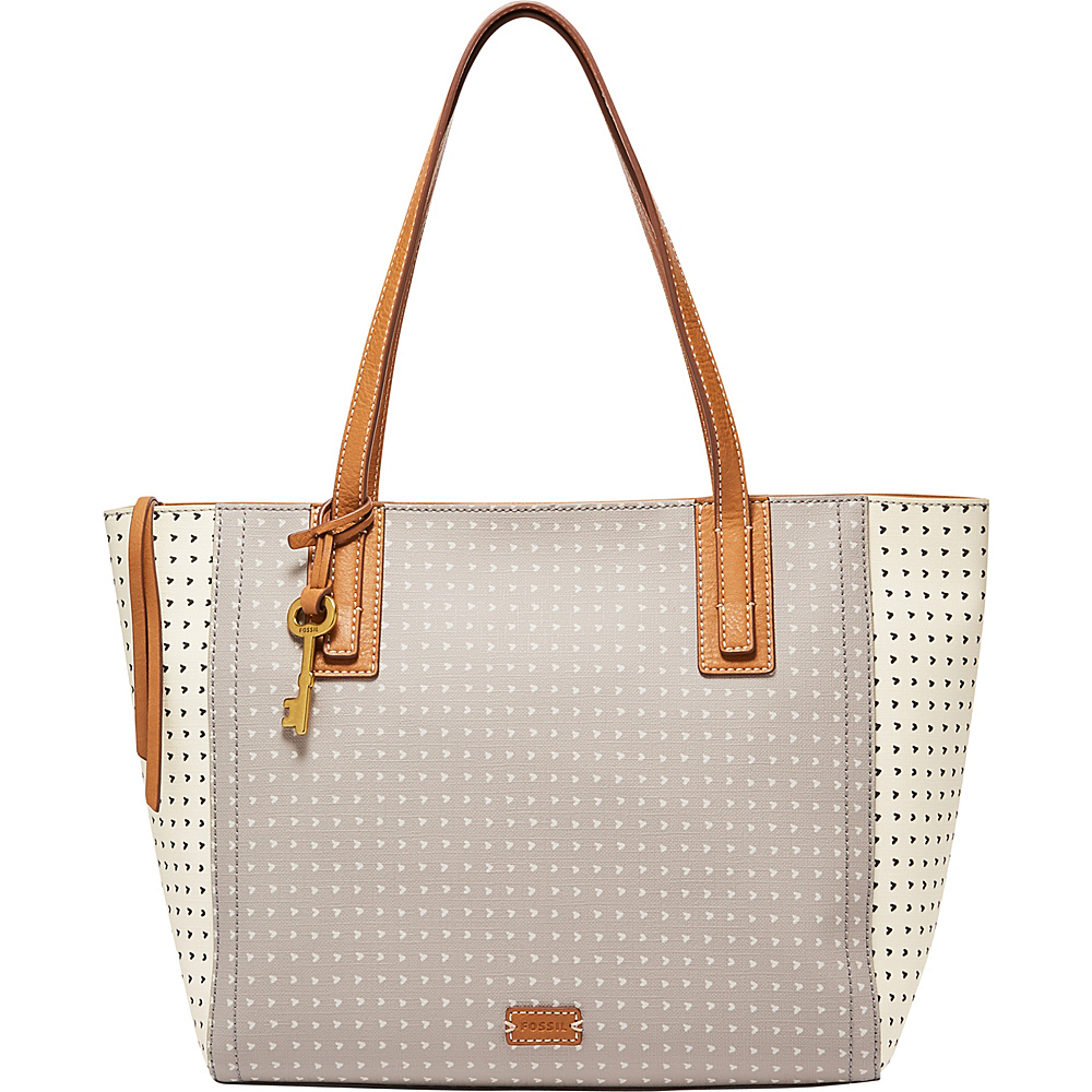 Fossil Emma Tote Grey/White - Fossil Manmade Handbags - Handbags, Manmade Handbags