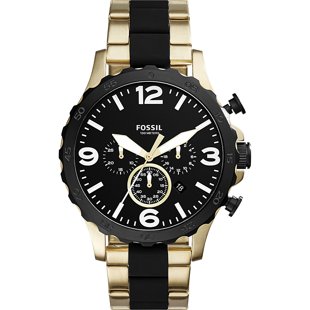 Fossil Nate Chronograph Stainless Steel Watch Gold - Fossil Watches - Fashion Accessories, Watches